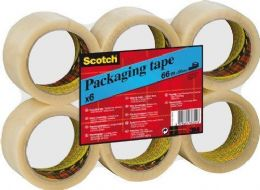 6 Rolls of Scotch Clear Parcel Packaging Packing Box Tape for Dispenser